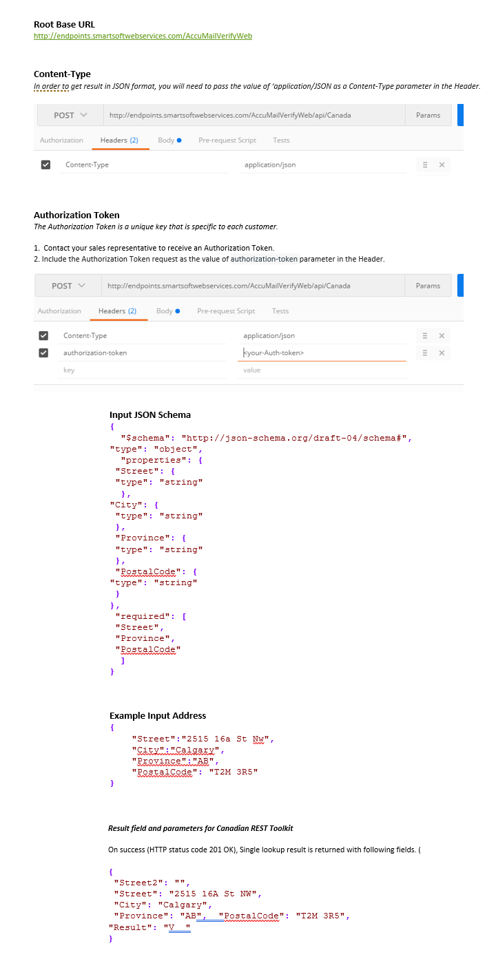 Canadian Address Verification API